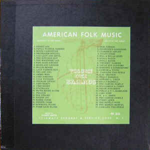 Anthology Of American Folk Music Volume One: Ballads - Album Cover - VinylWorld