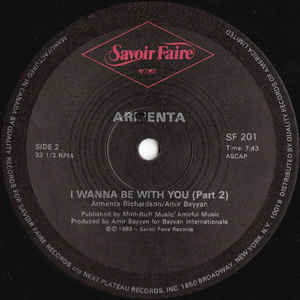 Armenta - I Wanna Be With You - Album Cover