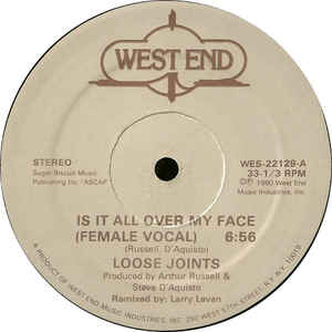 Loose Joints - Is It All Over My Face - VinylWorld