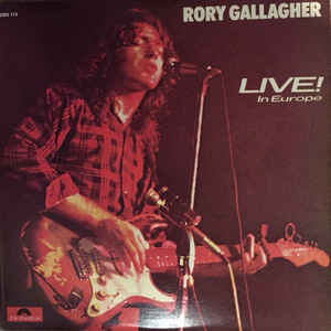 Rory Gallagher - Live! In Europe - Album Cover