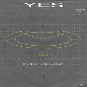 Yes - Owner Of A Lonely Heart - Album Cover