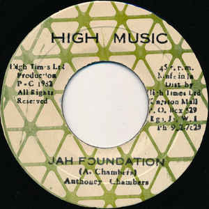 Anthony Chambers - Jah Foundation - Album Cover