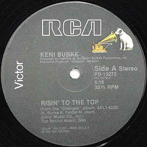Keni Burke - Risin' To The Top / Can't Get Enough (Do It All Night) - Album Cover