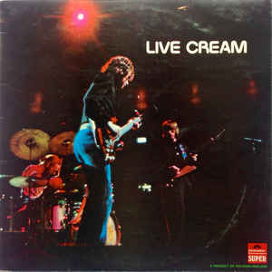 Cream (2) - Live Cream - Album Cover