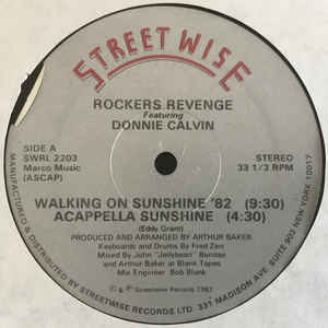 Rockers Revenge - Walking On Sunshine '82 - VinylWorld