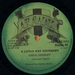 Errol Dunkley - A Little Way Different - Album Cover