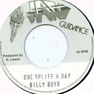 Billy Boyo - One Spliff A Day - Album Cover