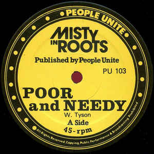 Misty In Roots - Poor And Needy / Follow Fashion - VinylWorld