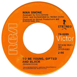 Nina Simone - To Be Young, Gifted, And Black - Album Cover