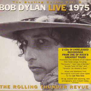 Bob Dylan - Live 1975 (The Rolling Thunder Revue) - Album Cover