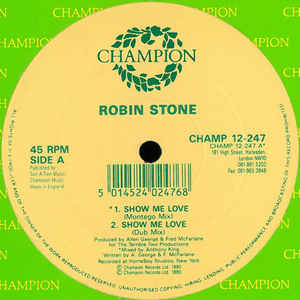 Robin Stone (2) - Show Me Love - Album Cover
