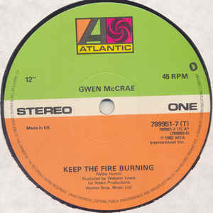 Gwen McCrae - Keep The Fire Burning / Funky Sensation - Album Cover