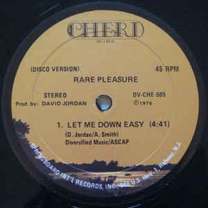 Rare Pleasure - Let Me Down Easy - Album Cover