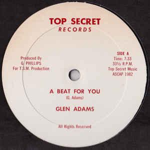 Glen Adams - A Beat For You - Album Cover