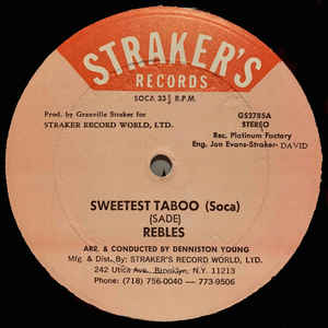 The Rebles - Sweetest Taboo (Soca) - Album Cover