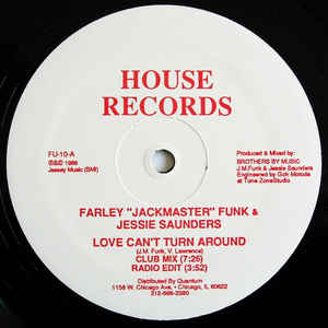 "Farley ""Jackmaster"" Funk - Love Can't Turn Around - Album Cover"
