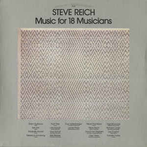 Steve Reich - Music For 18 Musicians - Album Cover