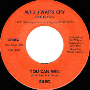 Bileo - You Can Win / Let's Go - Album Cover