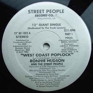 Ronnie Hudson & The Street People - West Coast Poplock - Album Cover