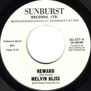 Melvin Bliss - Reward / Synthetic Substitution - Album Cover