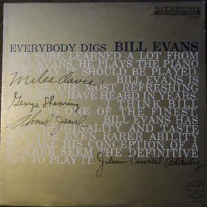 The Bill Evans Trio - Everybody Digs Bill Evans - Album Cover