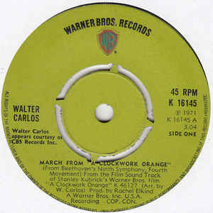 "Walter Carlos - March From ""A Clockwork Orange"" - VinylWorld"