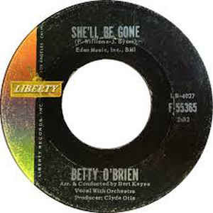 Betty O'Brien - She'll Be Gone - Album Cover