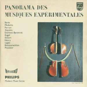 Various - Panorama Des Musiques Expérimentales - Album Cover