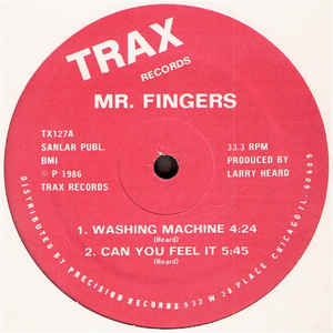Mr. Fingers - Washing Machine - Album Cover