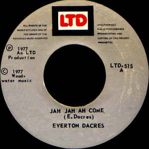 Everton Dacres - Jah Jah Ah Come - Album Cover