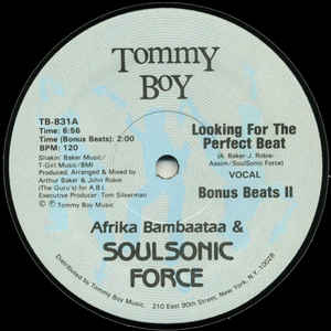 Afrika Bambaataa & Soulsonic Force - Looking For The Perfect Beat - Album Cover