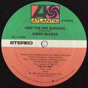 Gwen McCrae - Keep The Fire Burning - Album Cover