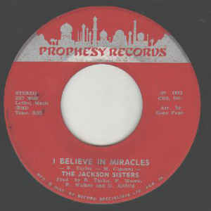 Jackson Sisters - I Believe In Miracles / (Why Can't We Be) More Than Just Friends - Album Cover