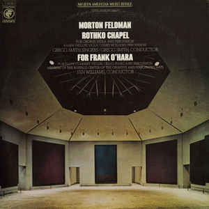 Morton Feldman - Rothko Chapel / For Frank O'Hara - Album Cover