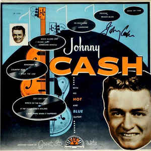 Johnny Cash - With His Hot And Blue Guitar - Album Cover