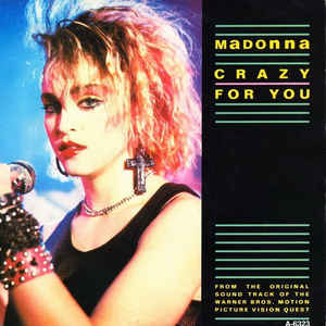 Madonna - Crazy For You - Album Cover