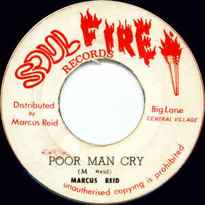 Marcus Reid - Poor Man Cry / Soul On Fire - Album Cover