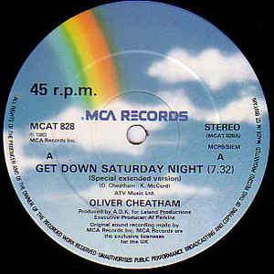 Oliver Cheatham - Get Down Saturday Night - Album Cover