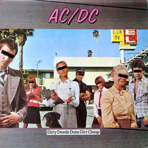 AC/DC - Dirty Deeds Done Dirt Cheap - Album Cover