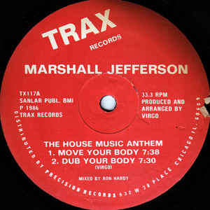 Marshall Jefferson - The House Music Anthem - Album Cover