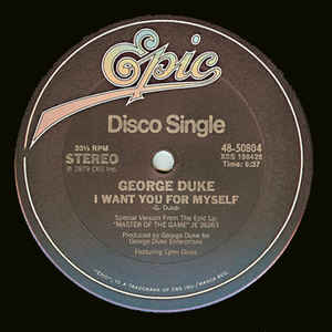 George Duke - I Want You For Myself / Party Down - Album Cover