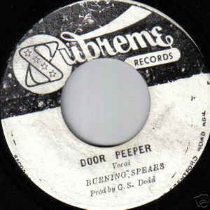Burning Spear - Door Peeper / Soul Shake - Album Cover