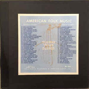 Harry Smith - Anthology Of American Folk Music Volume Three: Songs - Album Cover