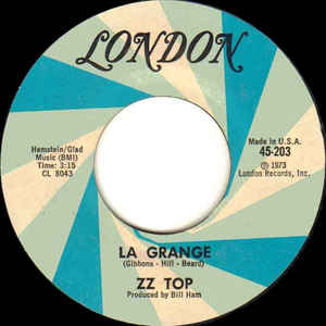 ZZ Top - La Grange - Album Cover