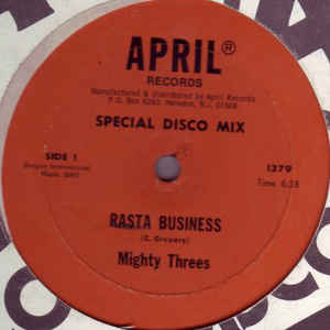 Mighty Threes - Rasta Business / Sata - Album Cover