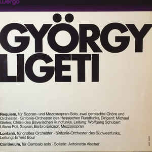 György Ligeti - Requiem / Lontano / Continuum - Album Cover