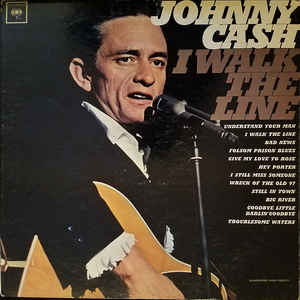 Johnny Cash - I Walk The Line - Album Cover