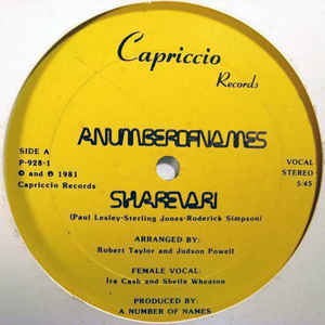 A Number Of Names - Sharevari - Album Cover