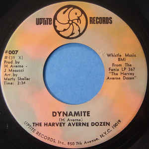 The Harvey Averne Dozen - Dynamite / Never Learned To Dance - Album Cover