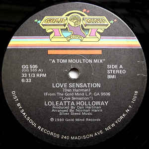 Loleatta Holloway - Love Sensation - Album Cover